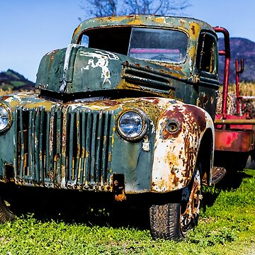 Old Ford Truck. by Tonywallbank