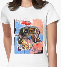 Basquiat skull Poster Women's Fitted T-Shirt