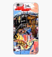 Basquiat skull Poster iPhone Case