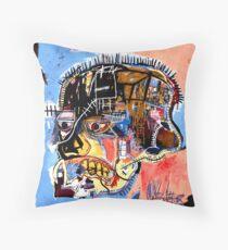 Basquiat skull Poster Throw Pillow