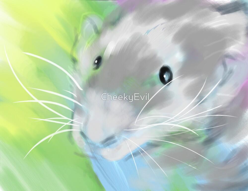 Nutmeg, Pet Rat 8 x10 Digital Watercolor Painting Print by CheekyEvil