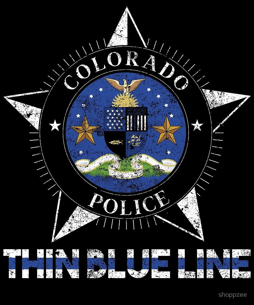 Colorado Police Shirt Thin Blue Line Flag Shirt by shoppzee