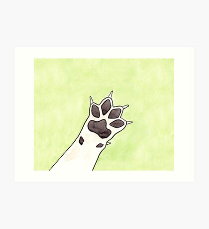 Dog Paw - Watercolour Illustration of a Grey Dog Paw Art Print