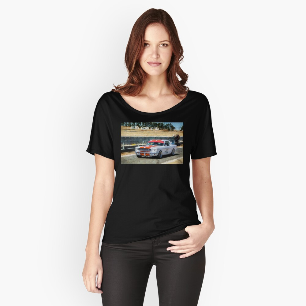 White Group N Mustang Relaxed Fit T-Shirt