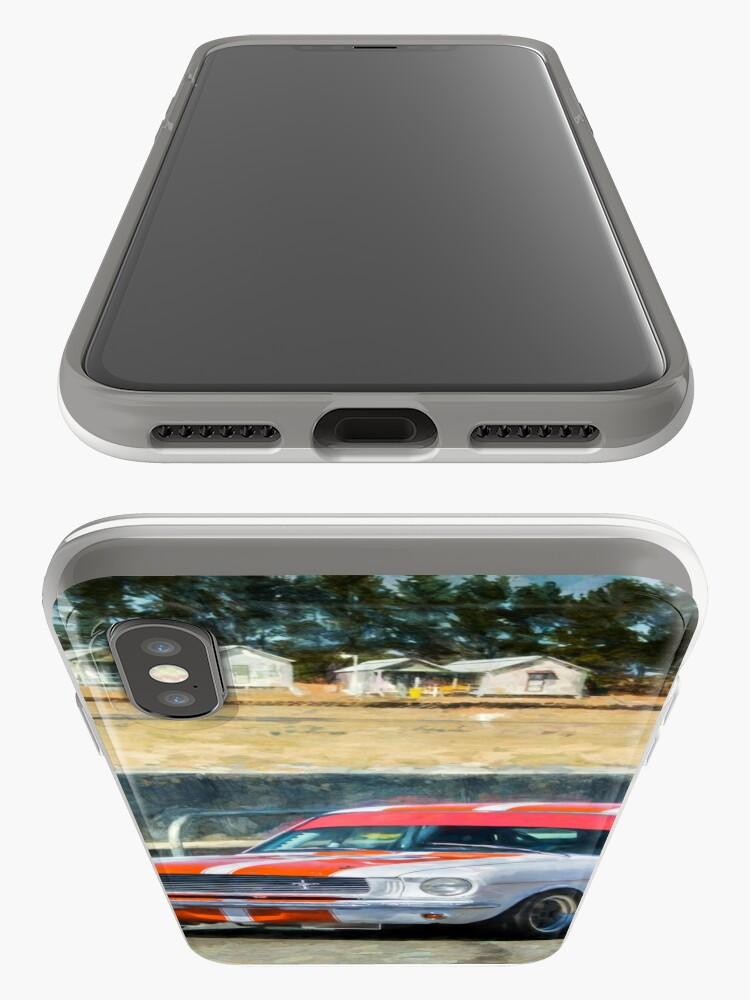 Alternate view of White Group N Mustang iPhone Cases & Covers