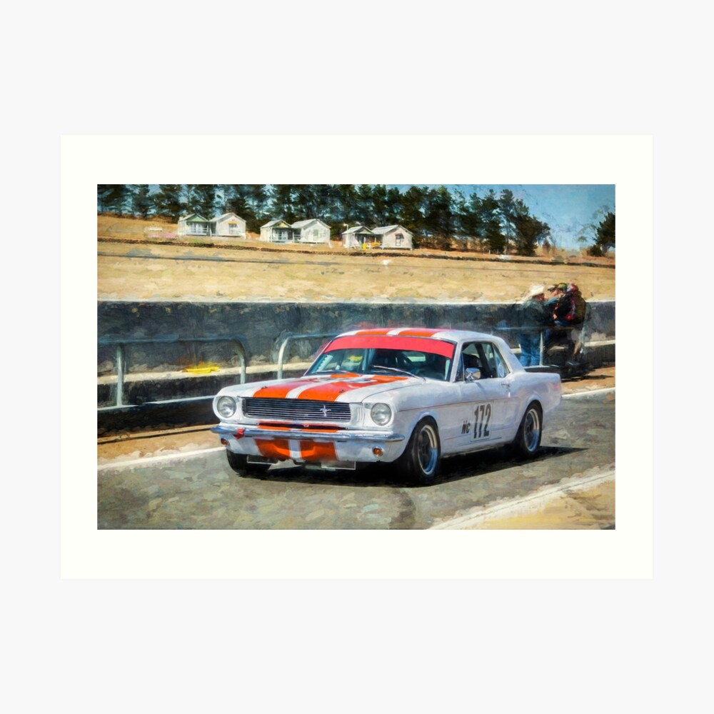 White Group N Mustang Art Print