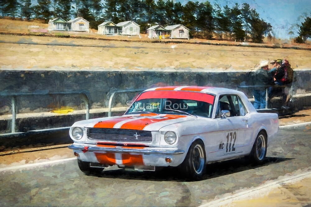 White Group N Mustang by Stuart Row