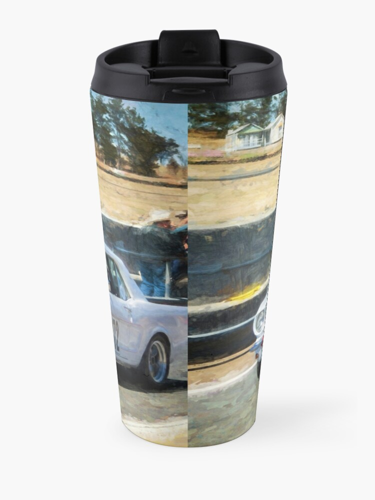 Alternate view of White Group N Mustang Travel Mug