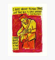 Quote from AJJ lyrics Art Print