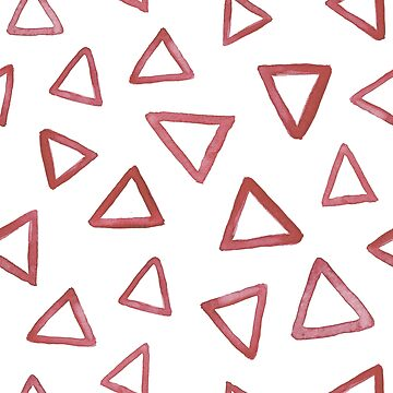 Red watercolor triangles by nastybo