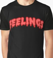Drippin Feelings red Graphic T-Shirt