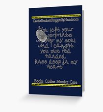 Finger prints all over Greeting Card