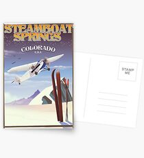 Steamboat Springs Colorado ski Postcards