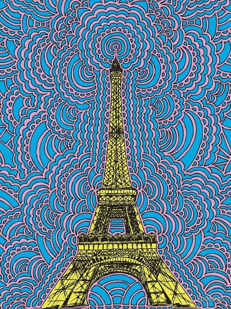 Eiffel Tower Drawing Meditation by kpdesign