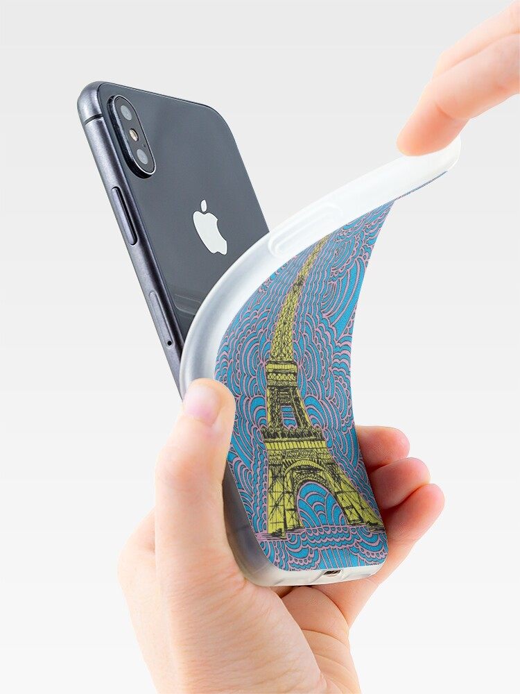 Alternate view of Eiffel Tower Drawing Meditation iPhone Case & Cover