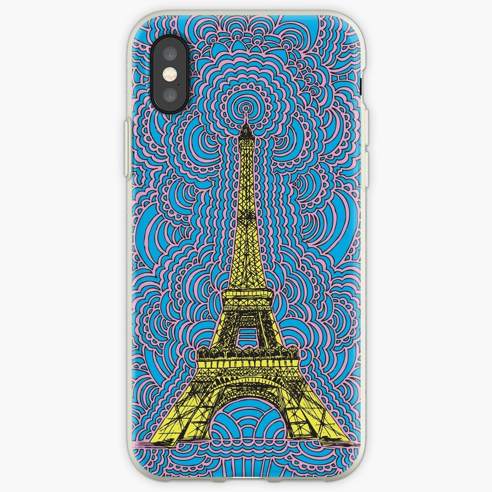 Eiffel Tower Drawing Meditation iPhone Case & Cover