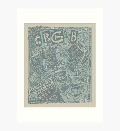 cbgb flyer Art Print