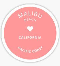 Malibu Beach Love Circle Sticker