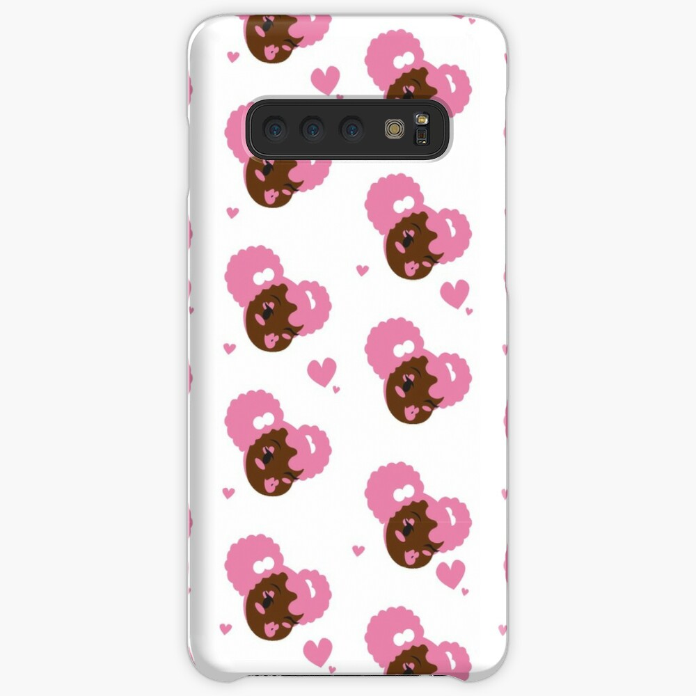 Pink Puffs and Kisses Case & Skin for Samsung Galaxy