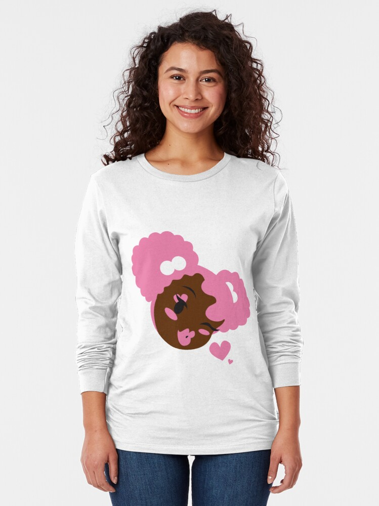 Alternate view of Pink Puffs and Kisses Long Sleeve T-Shirt