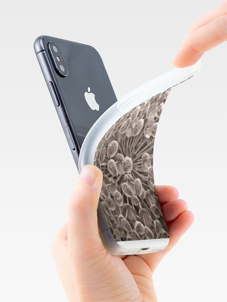 Alternate view of Sepia Nature Pattern iPhone Case & Cover