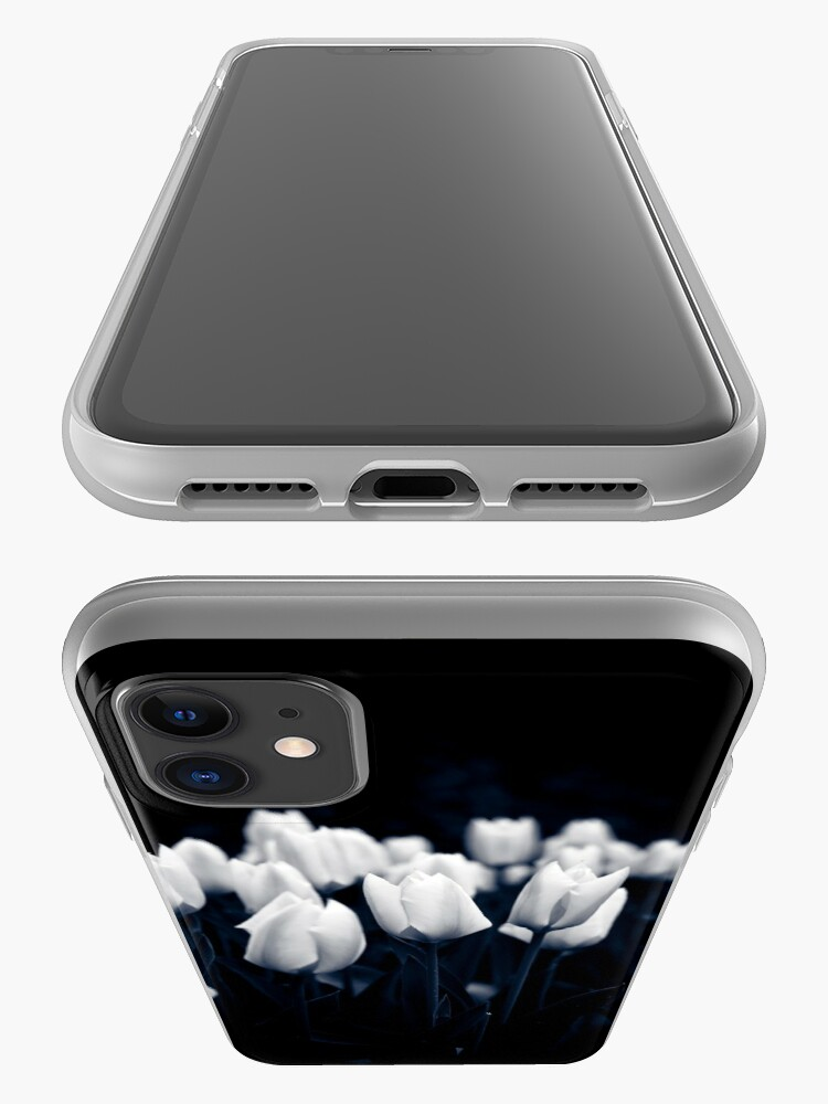 Alternate view of Monochrome Tulips iPhone Case & Cover