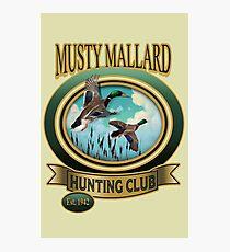Musty Mallard Hunt Club Photographic Print