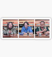 Lebowski Triptych Sticker
