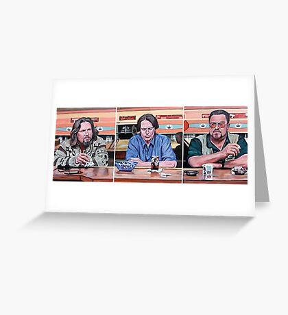 Lebowski Triptych Greeting Card