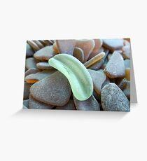 Hell Olivgrün Sea Glass Stück Grußkarte
