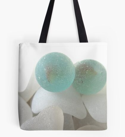 Two Sea Glass Marbles Tote Bag