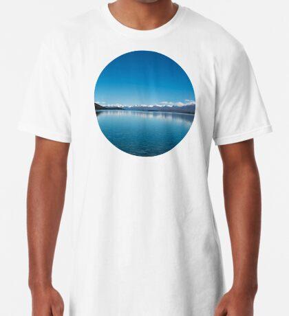 Blaue Linie Landschaft Longshirt