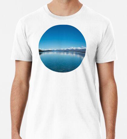 Blaue Linie Landschaft Premium T-Shirt