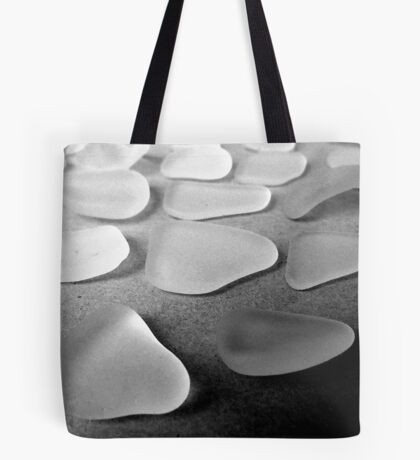 About 20 White Sea Glass Pieces Tote Bag