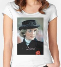 HRH Princess Diana France 1988 Women's Fitted Scoop T-Shirt