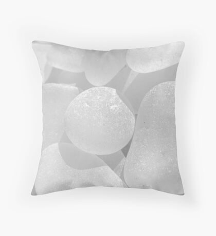 White Sea Glass Pale and Simple Throw Pillow