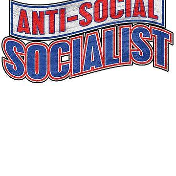 Anti-Social Socialist Introversion Sticker by AlaskaCC