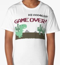 Gameover Dinosaur Long T-Shirt