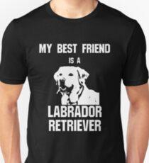 Camiseta ajustada Mi mejor amigo es un Labrador Retriever