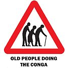 old people doing the conga by Paul Chambers