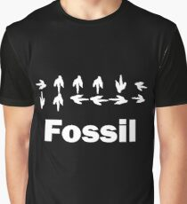 Dinotopia Inspired Fossil Text Graphic T-Shirt
