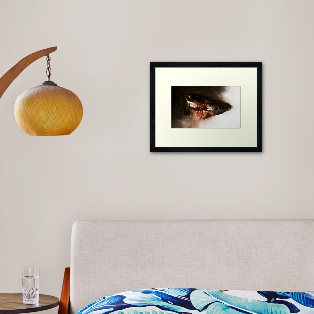 Pig Skull Framed Art Print