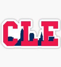 CLE Skyline - Indians Sticker
