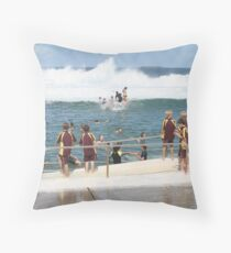King Tide at Newcastle Baths Throw Pillow