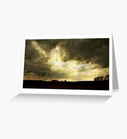 Uneasiness Greeting Card