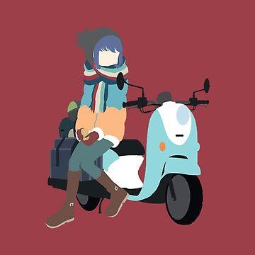 Yuru Camp△ - Shima Rin and Scooter by pietercarlier