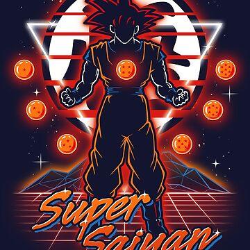 Retro Super Saiyan by Olipop