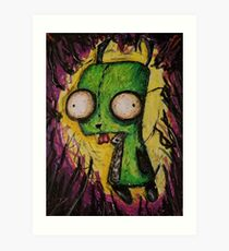 Invader Zim oil Art Print