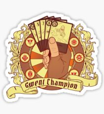 The cards tournament champion Sticker