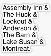 Montreat Locations Helvetica Tee Sticker